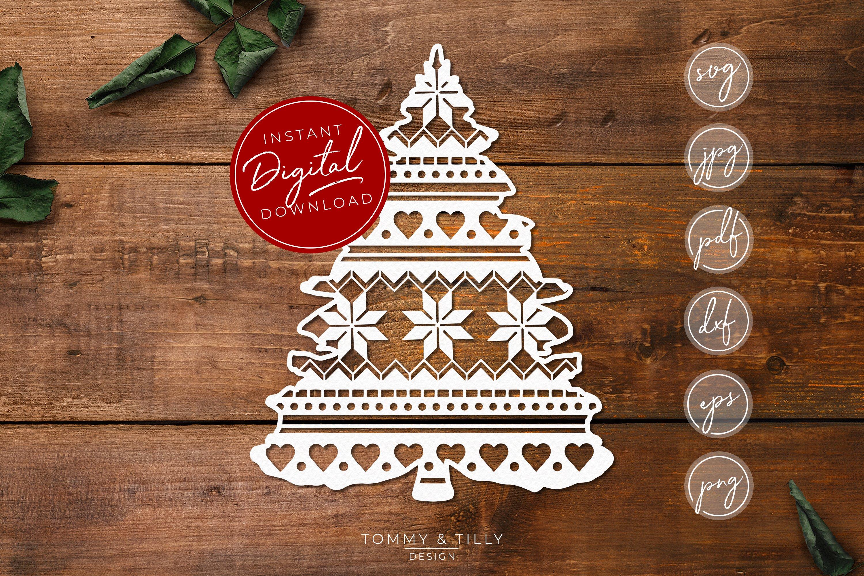 Pattern Christmas Tree Svg Eps Dxf Png Pdf Jpg 386061 Paper Cutting Design Bundles