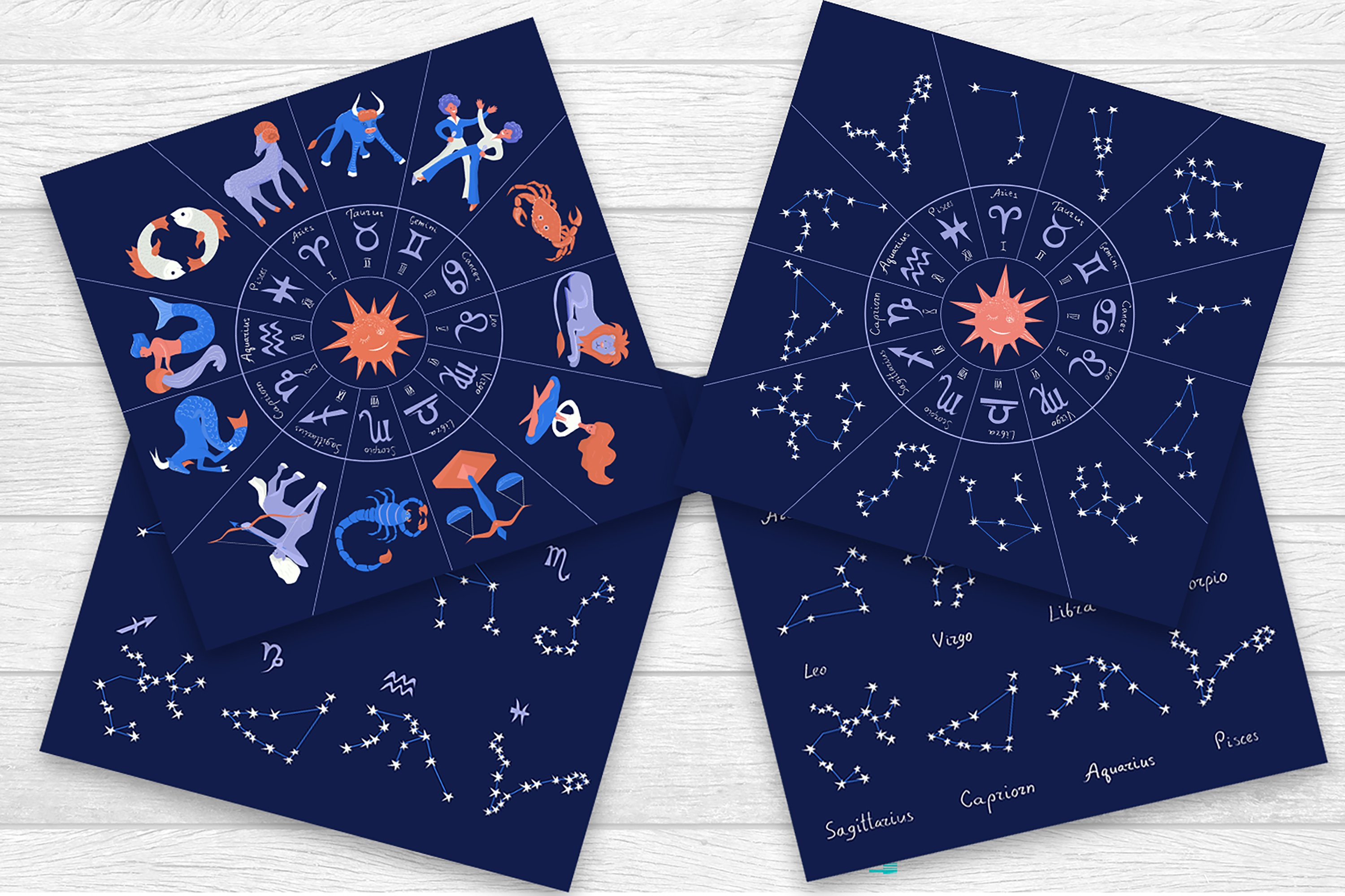 Zodiac constellations - Graphic collection example image 2