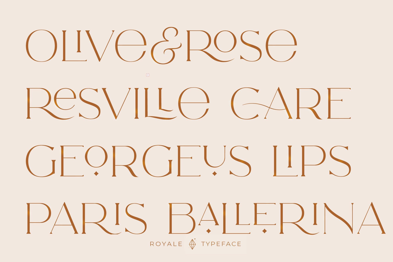 Royale Luxurious Typeface example image 2