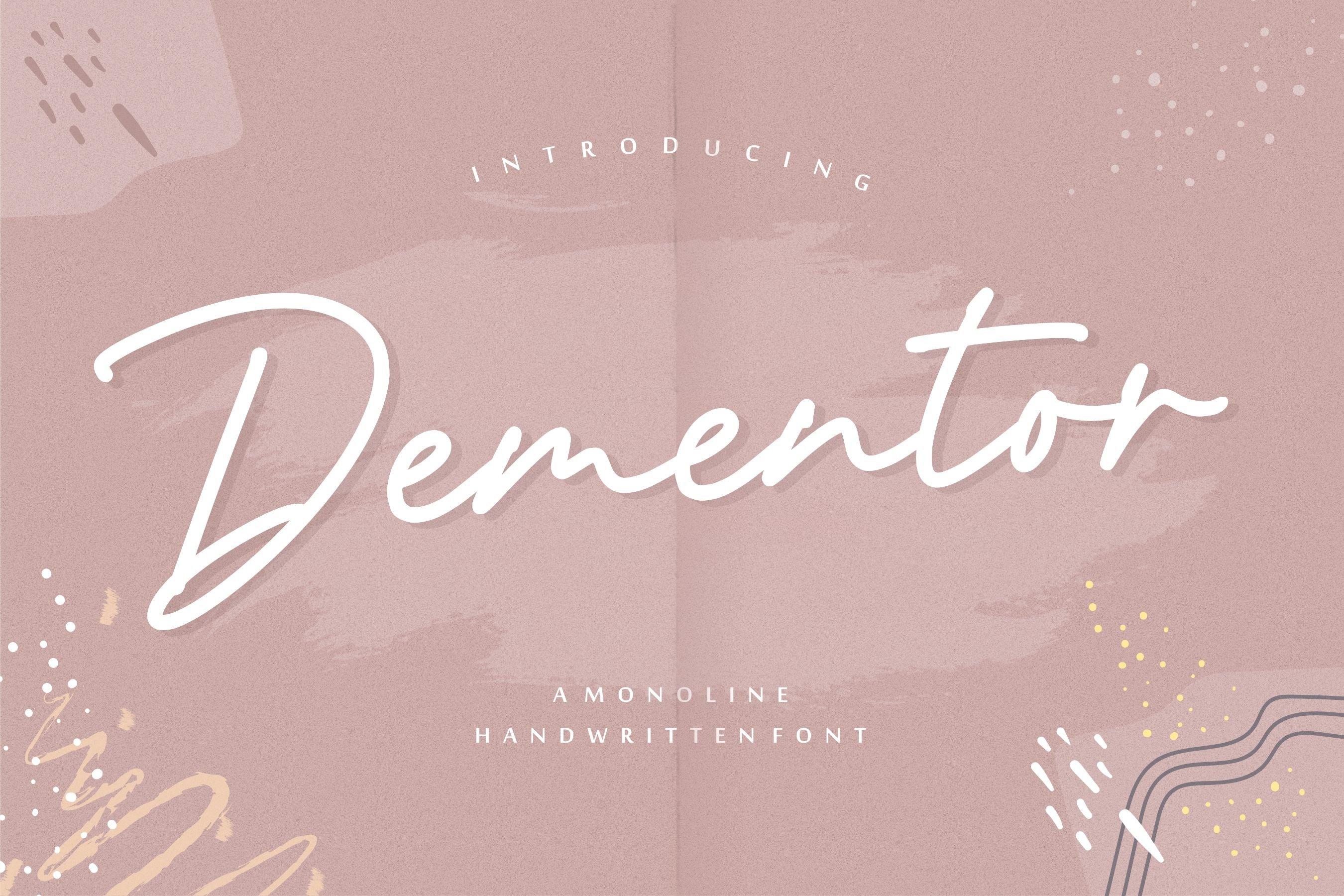 Dementor Monoline Handwritten Font example image 1