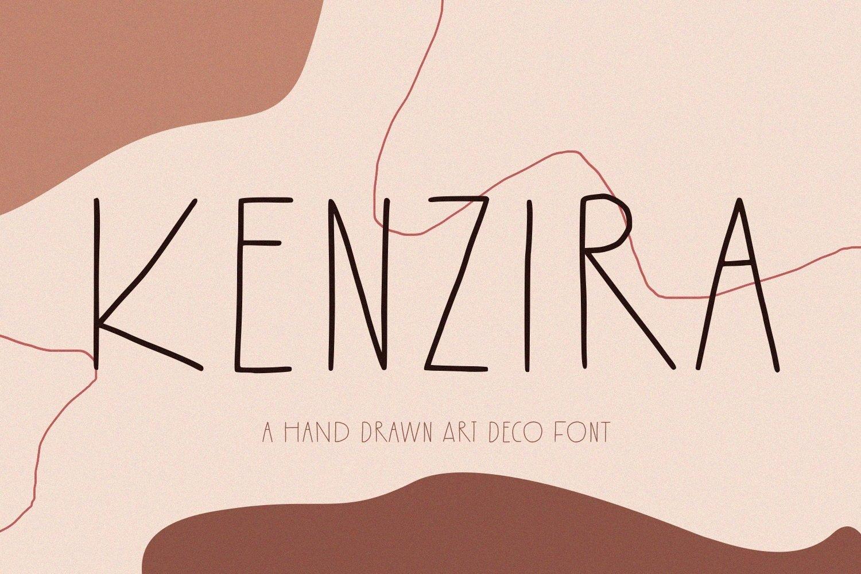 Kenzira - A Hand Drawn Art Deco Font example image 1