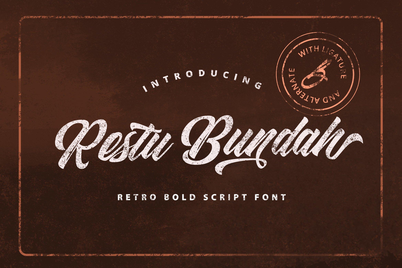 Restu Bundah - Retro Bold Script example image 1
