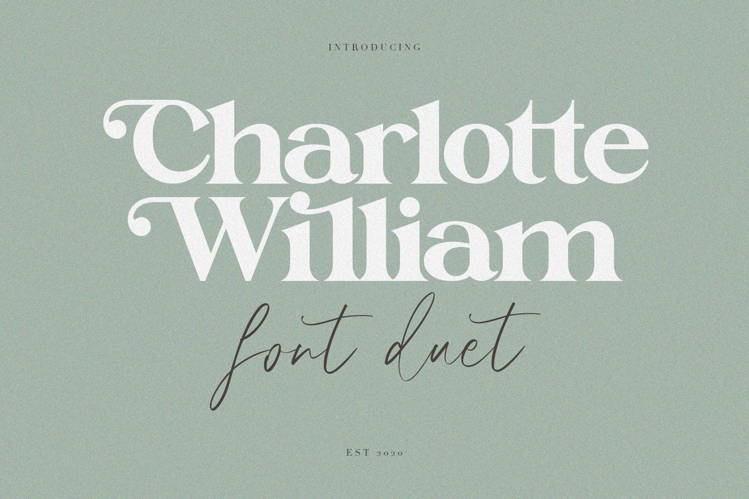 Charlotte William Font Duet example image 1