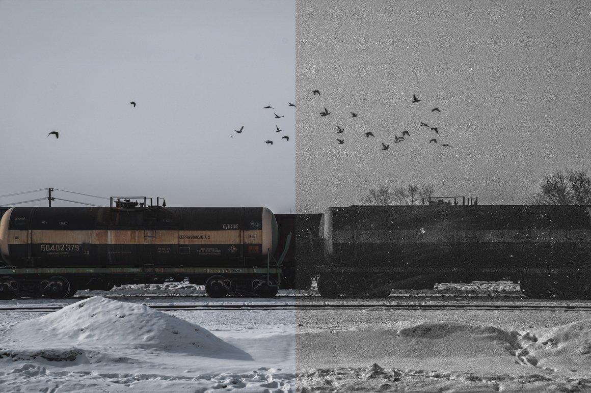 Grainy - Black and White Photoshop Effect example image 2
