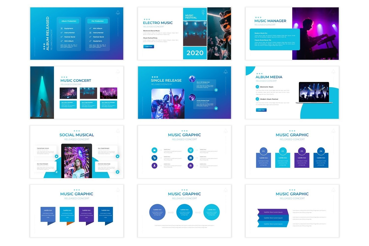 Music Addict - Powerpoint Template example image 4