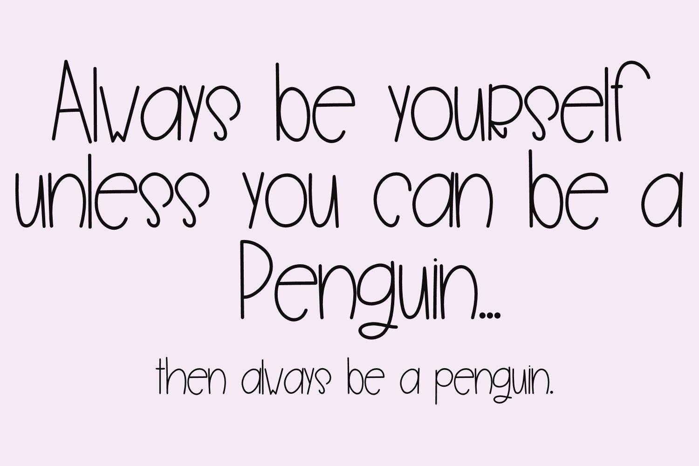 Penguin Farts - A Fun Handwritten Font example image 3