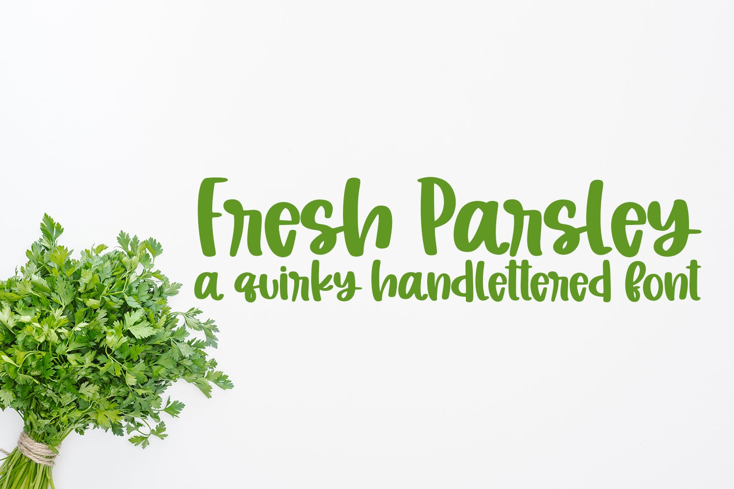 Fresh Parsley - A Quirky Hand-Lettered Font example image 1