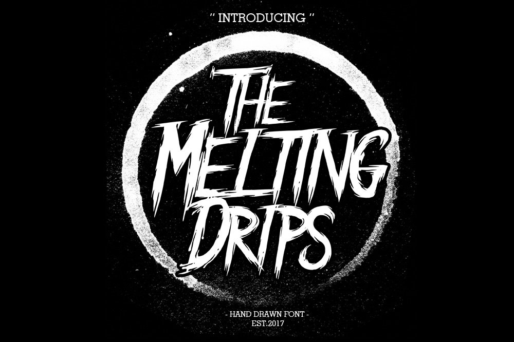 Melting Drip Font example image 2