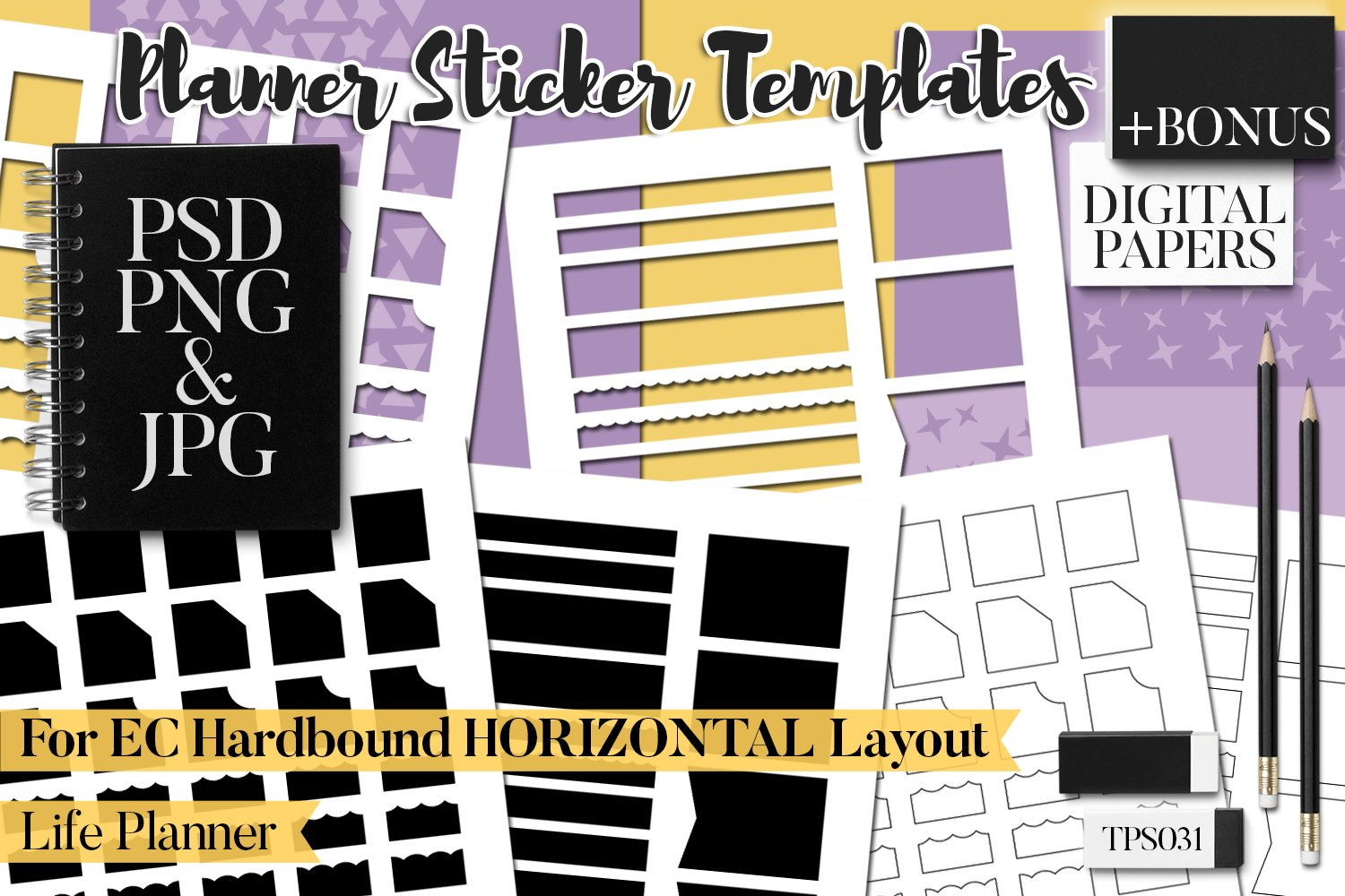 Planner Stickers Templates - Bundle Vol. 11 example image 2