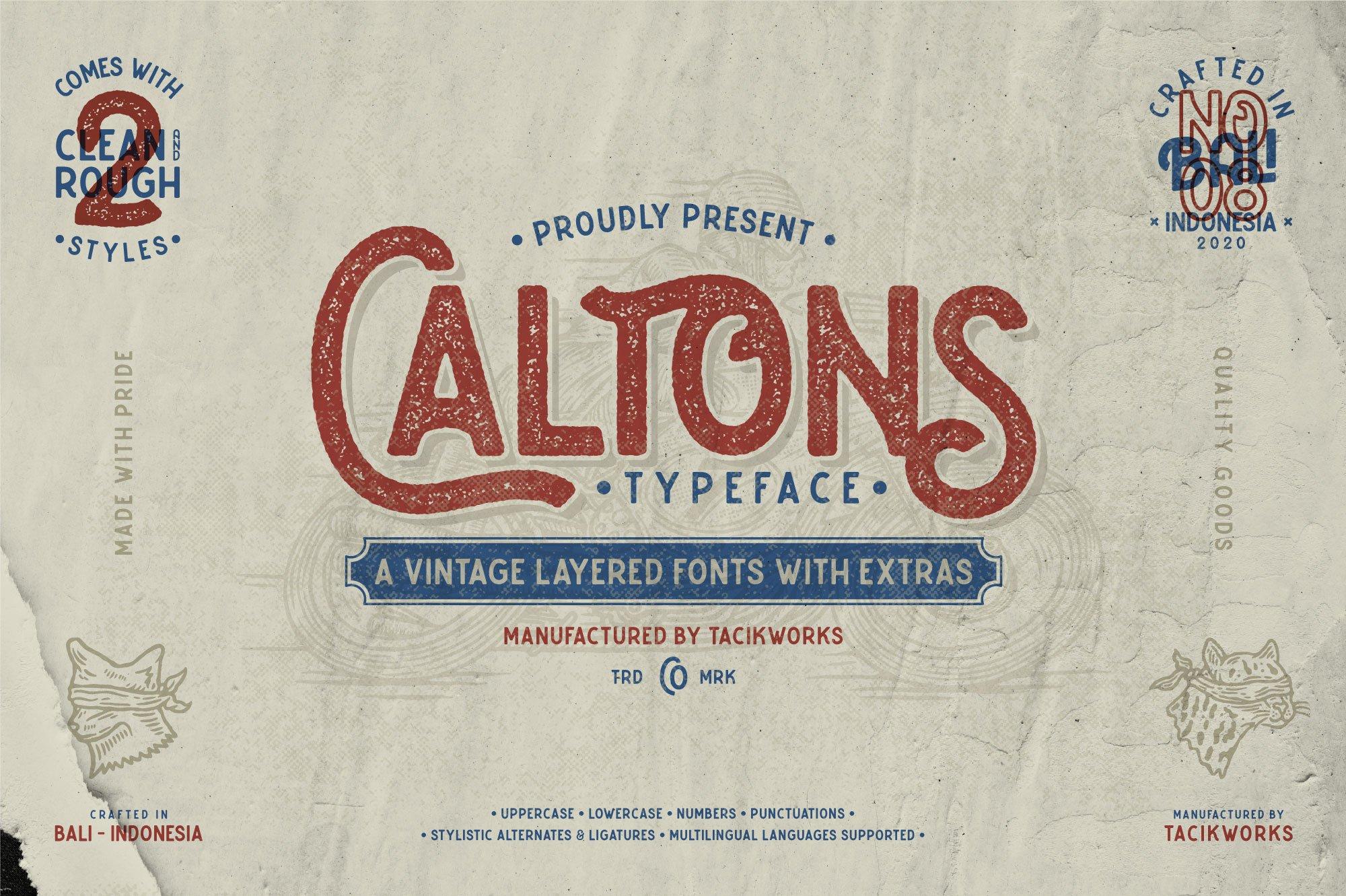 Caltons Typeface With Extra Bonus example image 1
