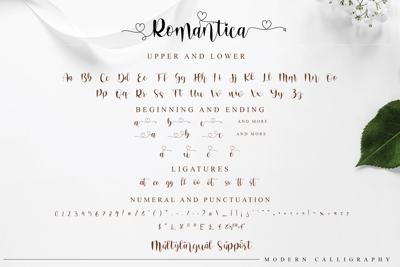 Romantica Font Signature example image 4