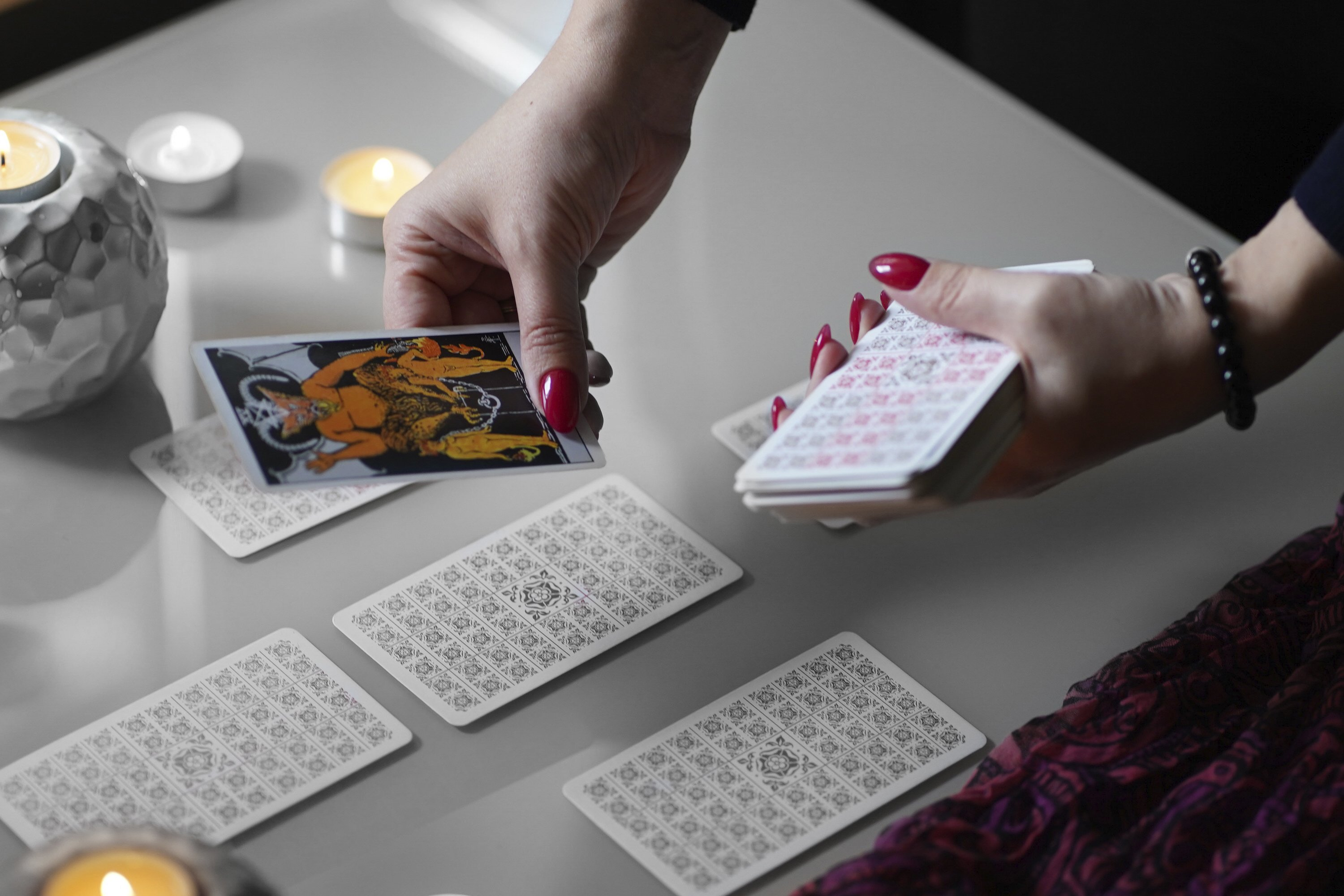 tarot card on the table, esoteric concept, example image 1