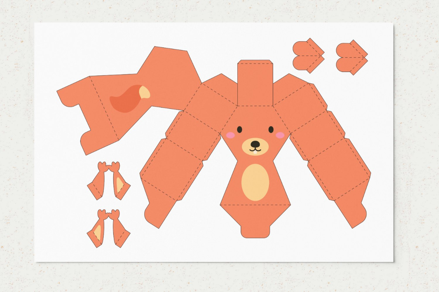 DIY Paper Squirrel Box Template SVG example image 1