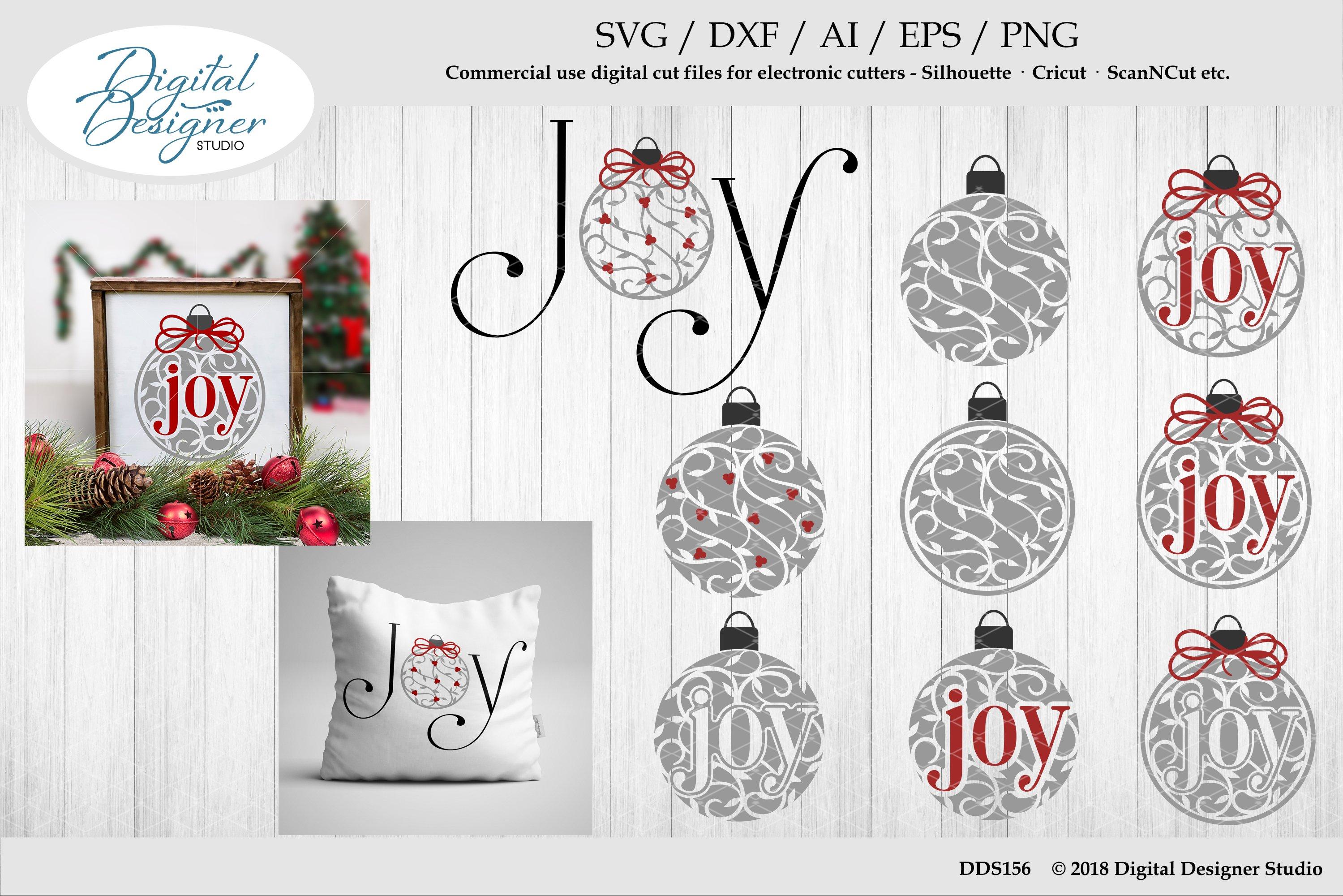 Holly Berry Joy Scroll Ornaments Svg Ai Eps Dxf Png Cut File 117084 Svgs Design Bundles