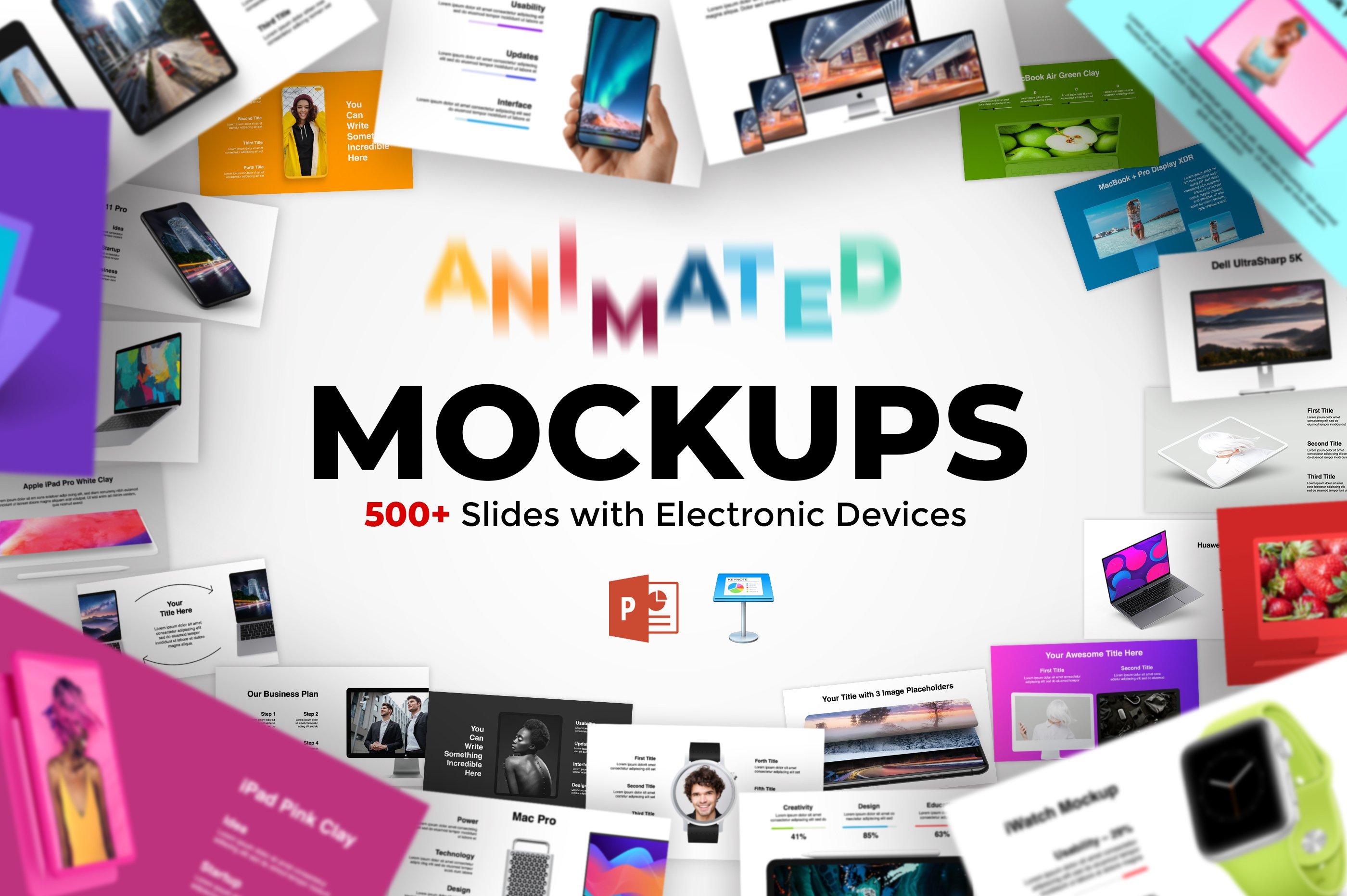 Animated Mockups Presentation Bundle. Infographic Templates. example image 1