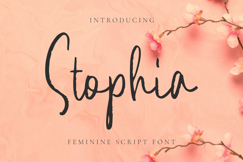 Stophia Font example image 1