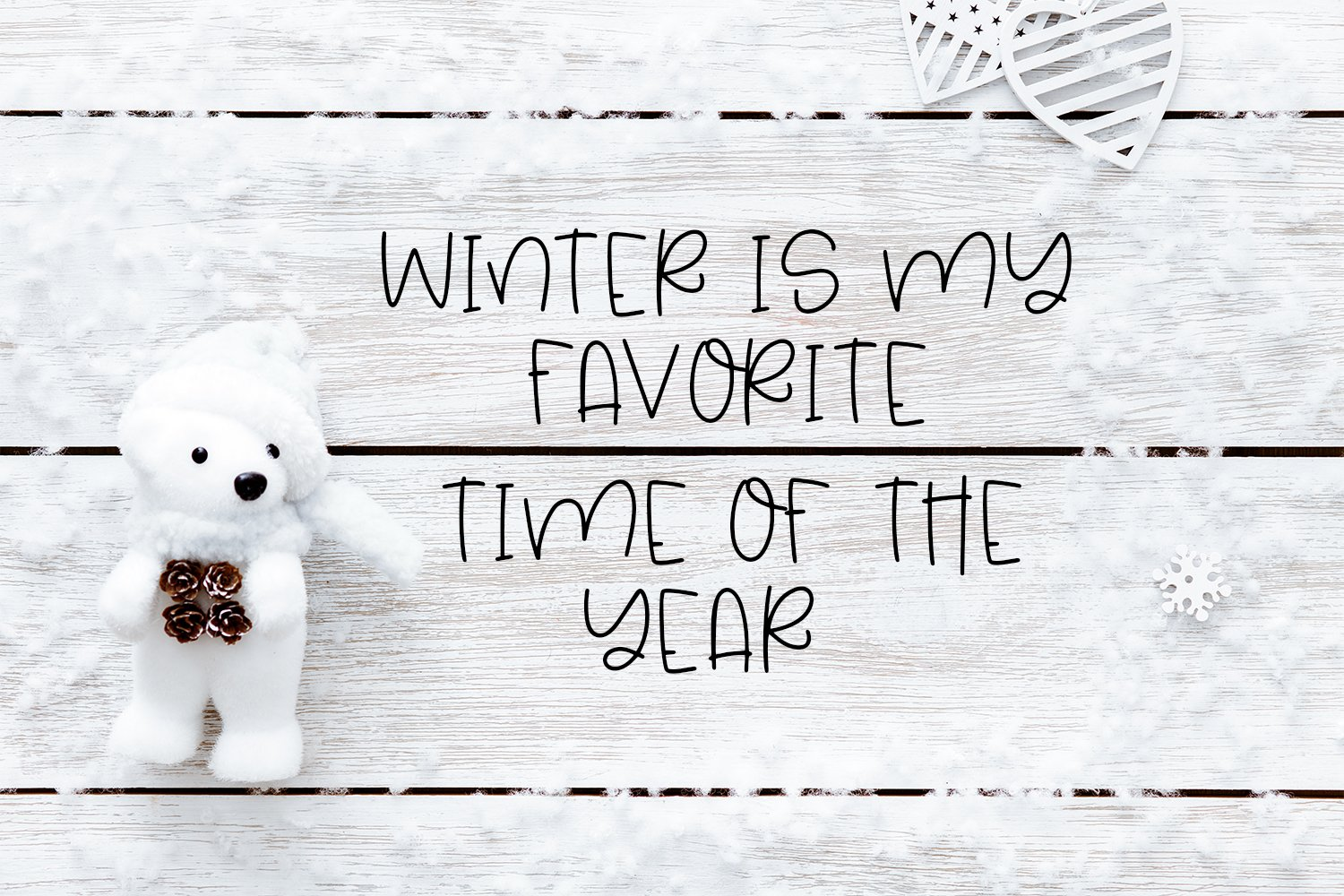Hello Winter - A Quirky Hand-Lettered Font example image 4