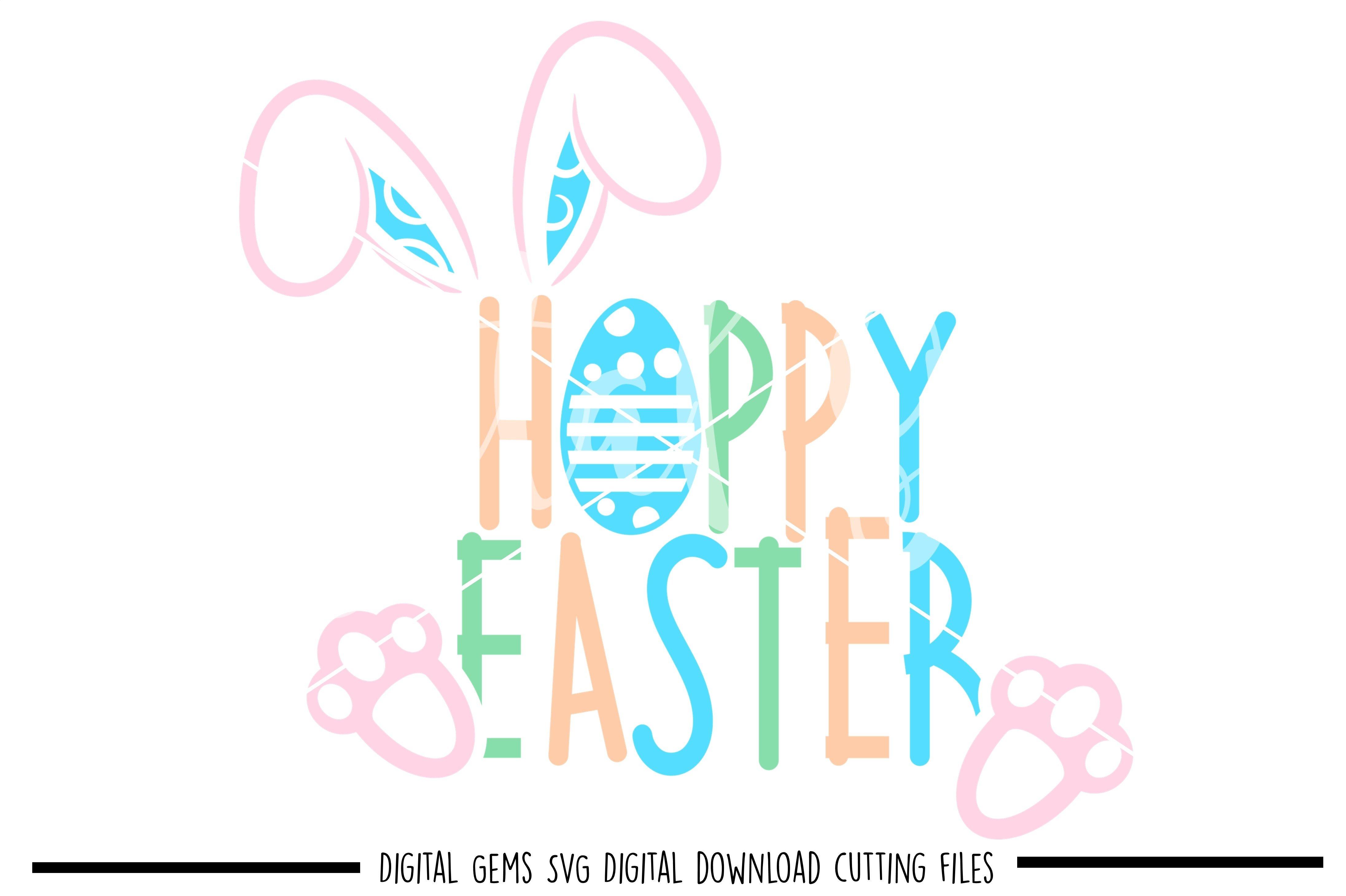 Image Transfer egg rabbit Easter design cricut files easter SVG DXF files silhouette files funny Easter Svg clipart Hoppy Easter
