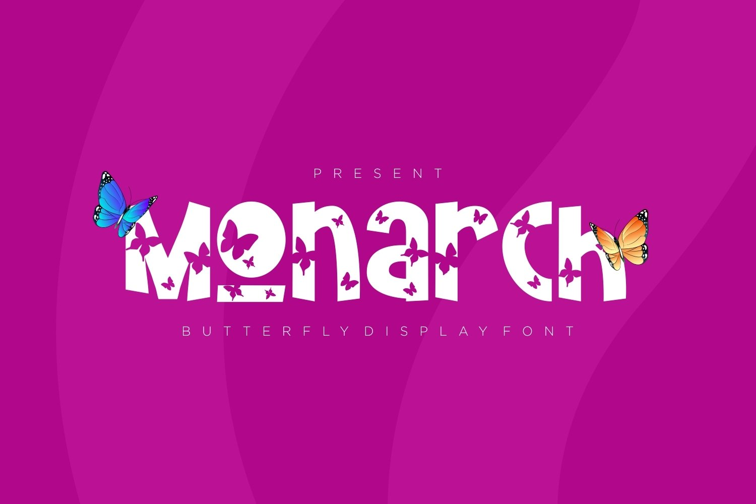 Monarch - Butterfly Display Font example image 1