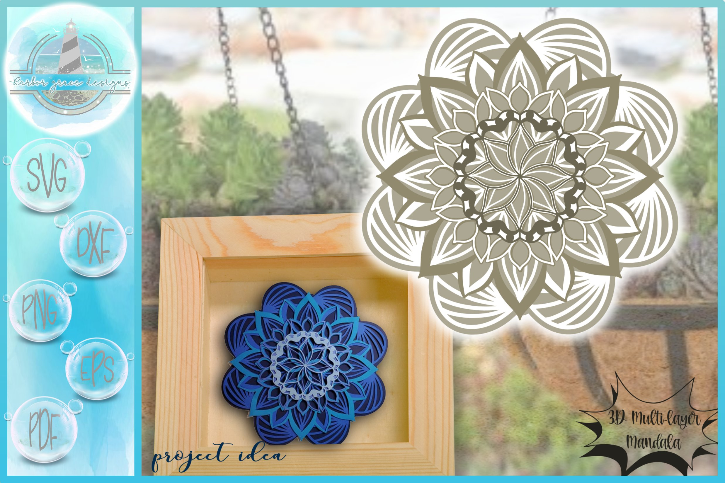 Download 3d Layered Design 3d Flower Mandala 3d Mandala Svg 511400 Cut Files Design Bundles