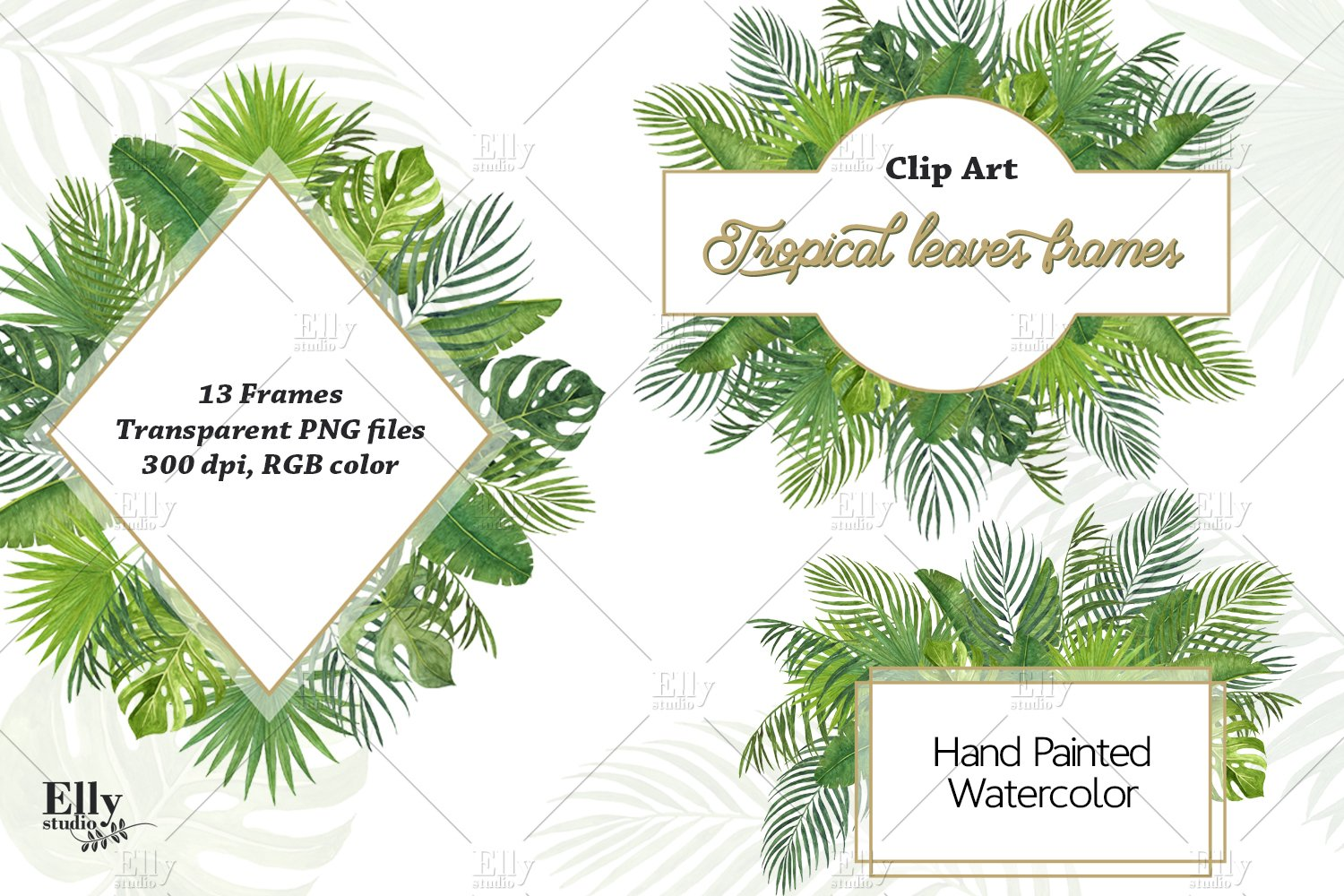 Tropical Leaves Frames Watercolor Summer Tropical Clipart 581992 Illustrations Design Bundles Forest tropical leaves and leaf plant palm frame, palm, tropical, vector png and vector with transparent background for free download. tropical leaves frames watercolor summer tropical clipart