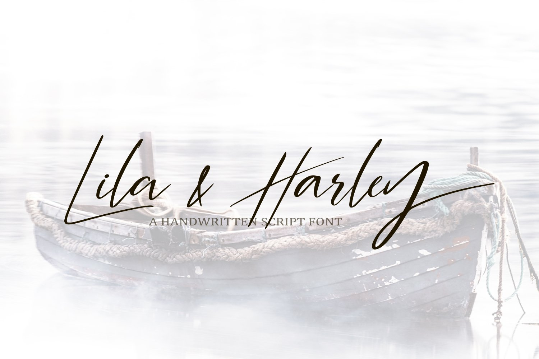 Lila & Harley. Signature font example image 1