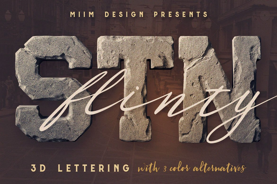 FlintyStone - 3D Lettering example image 1