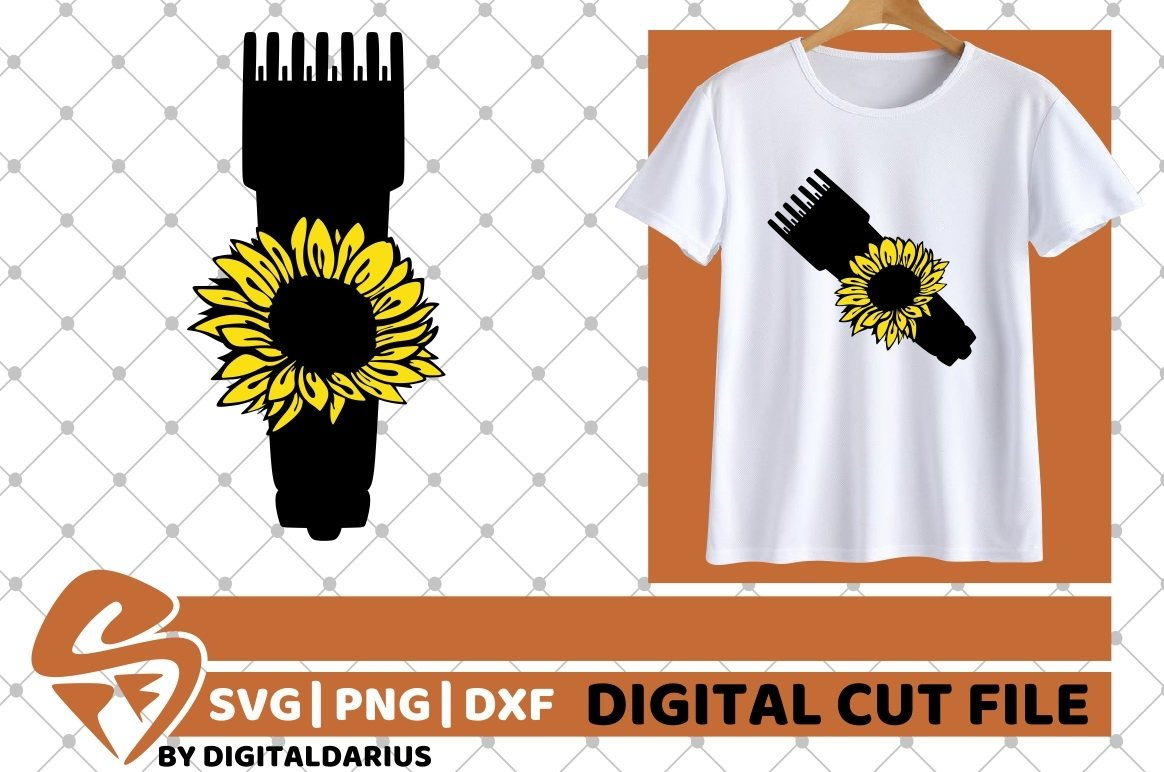 Hair Clipper svg, Sunflower svg, Hair Stylist, Hairdresser example image 1