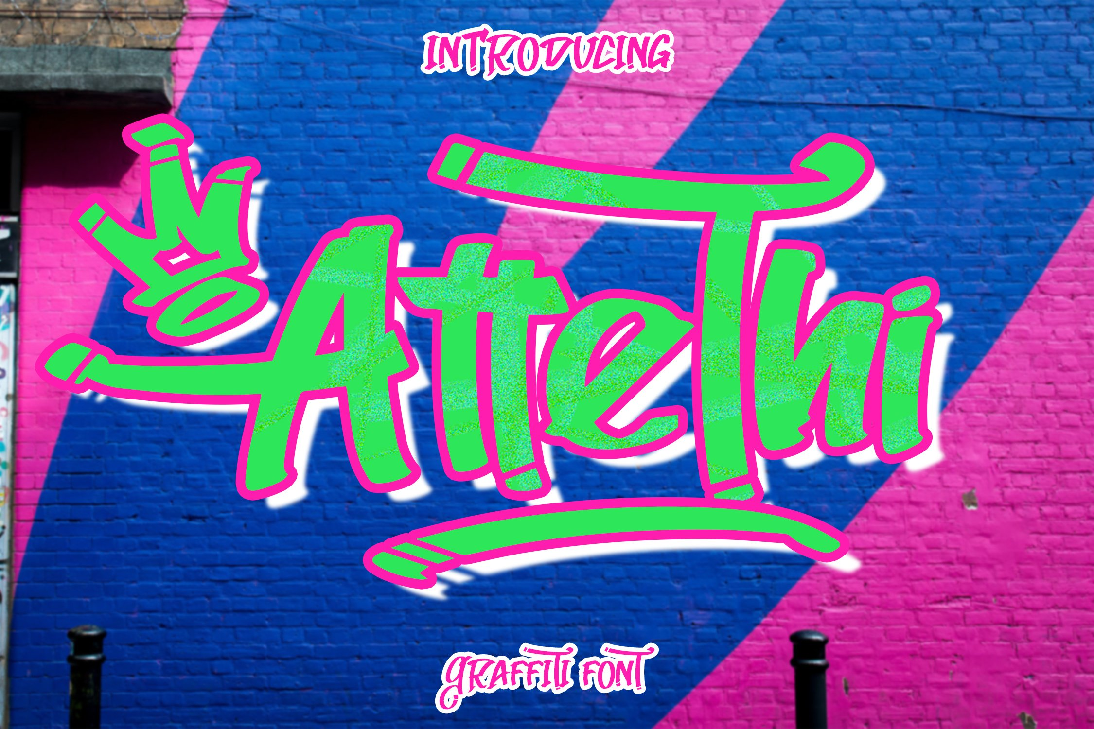 AtteThi Graffiti Font example image 1