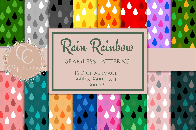 Digital Paper Rainbow Fun Paper Rain Edition 929563 Patterns Design Bundles