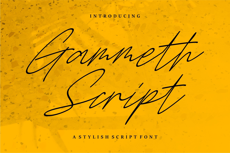 Gammeth - A Stylish Script Font example image 1