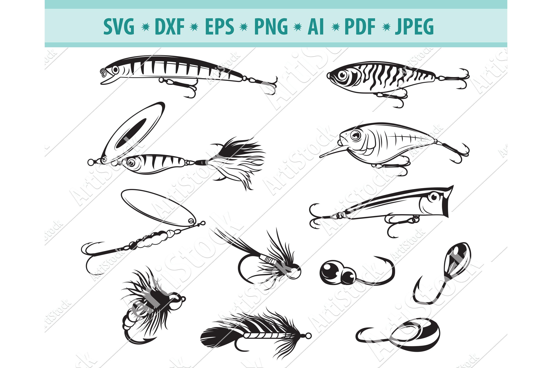 Download Fishing Bait Svg Fishing Svg Fishing Clipart Dxf Png Eps 710698 Cut Files Design Bundles