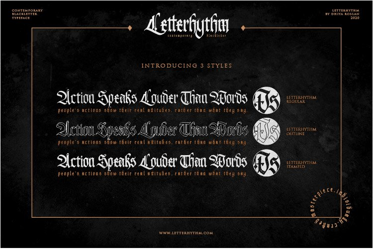 Letterhythm Contemporary Blackletter Typeface example image 5