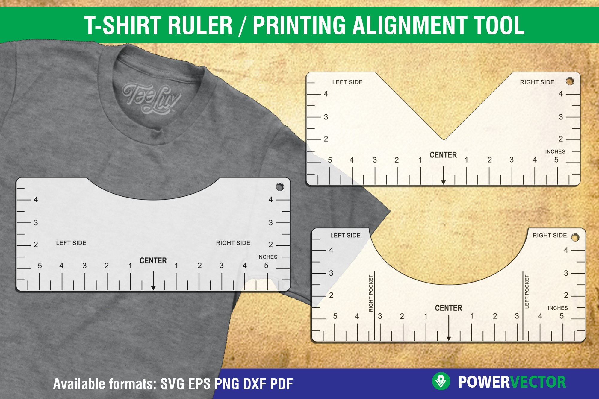T Shirt Alignment Tool Glowforge Svg File Printable Ruler 1123691 Laser Engraving Design Bundles