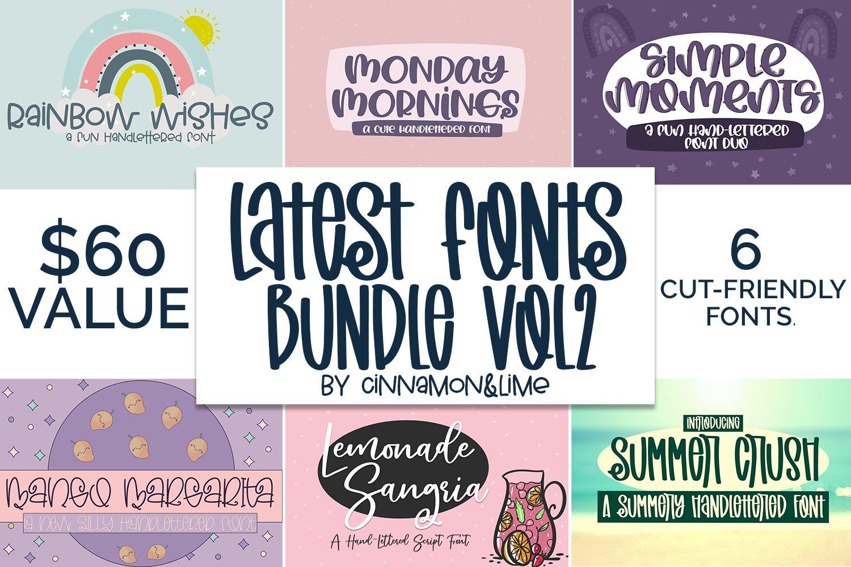 Handlettered Font Bundle Vol 2 example image 1