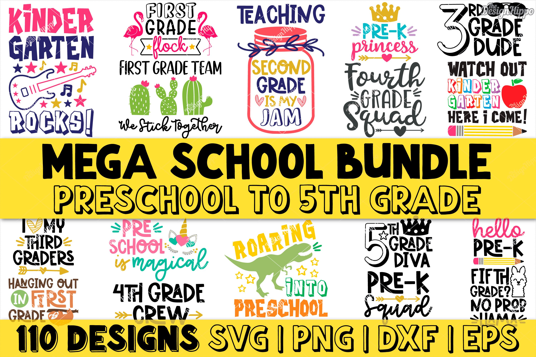 Mega School Bundle Of 110 Designs Svg Dxf Png Cutting Files 295856 Cut Files Design Bundles