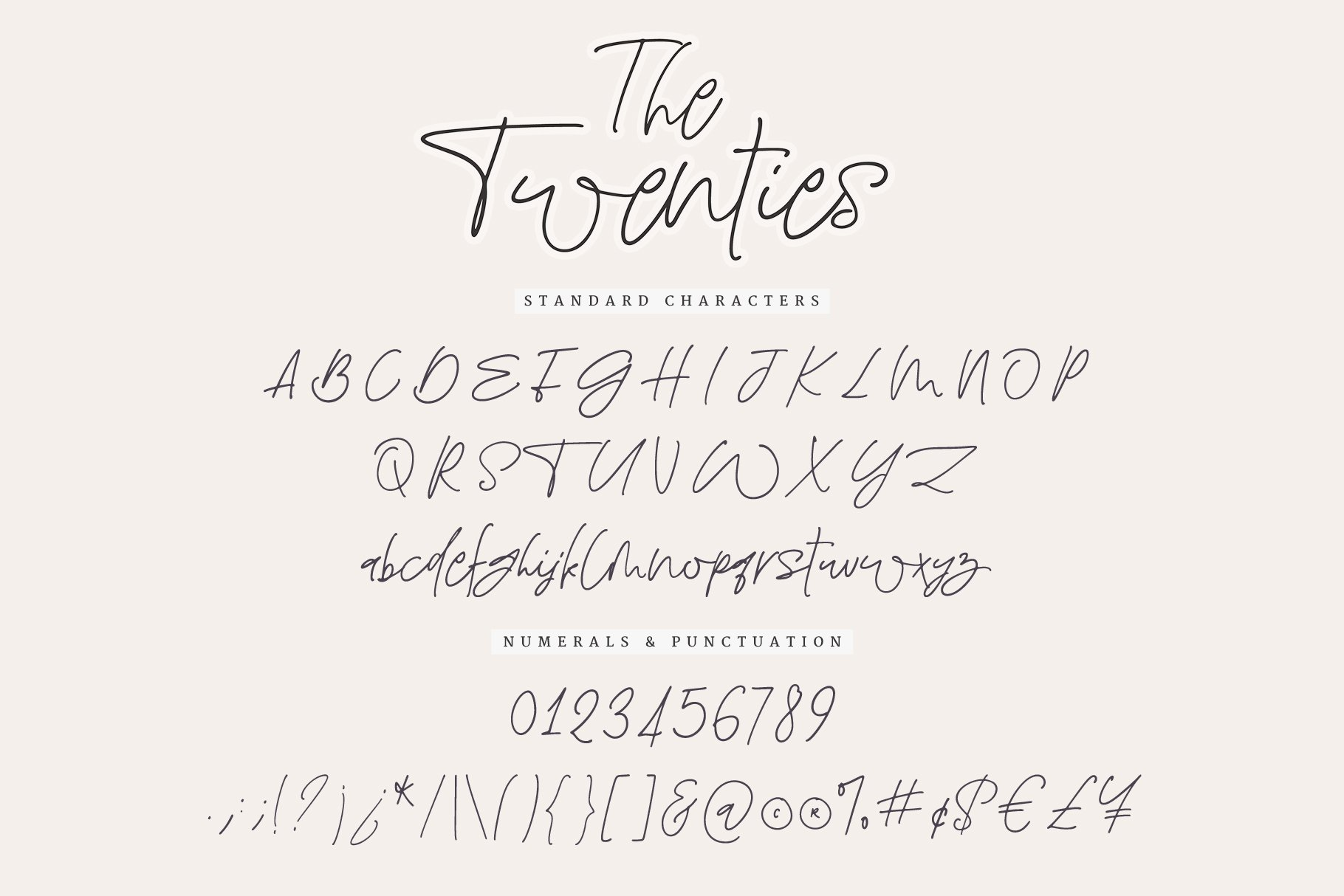 The Twenties   A Sweet Signature Font example image 10