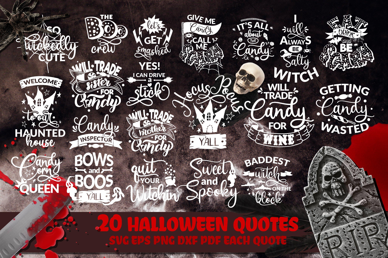 Halloween Bundle SVG Boo Pumpkins Lettering Quotes
