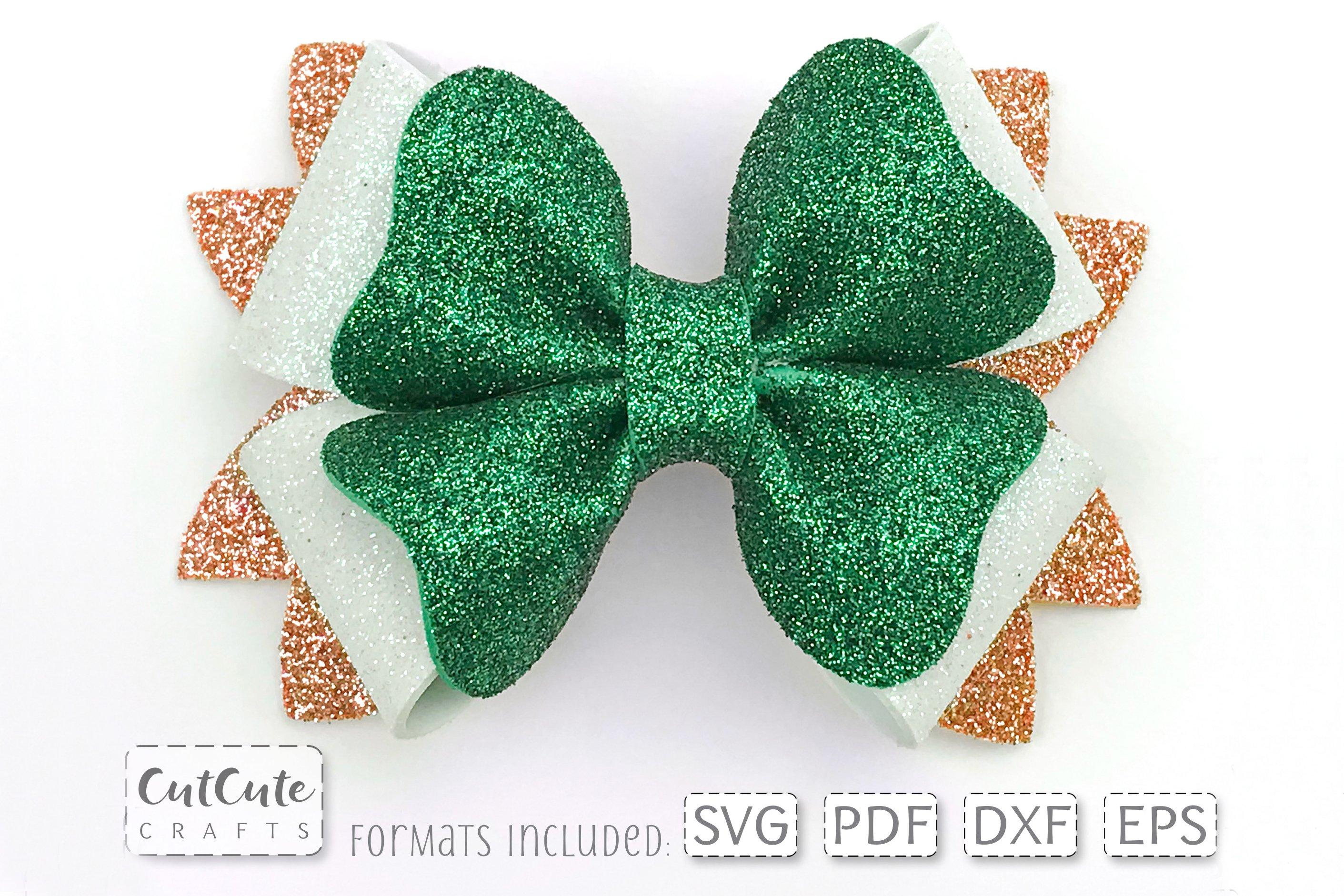 St Patricks Hair Bow