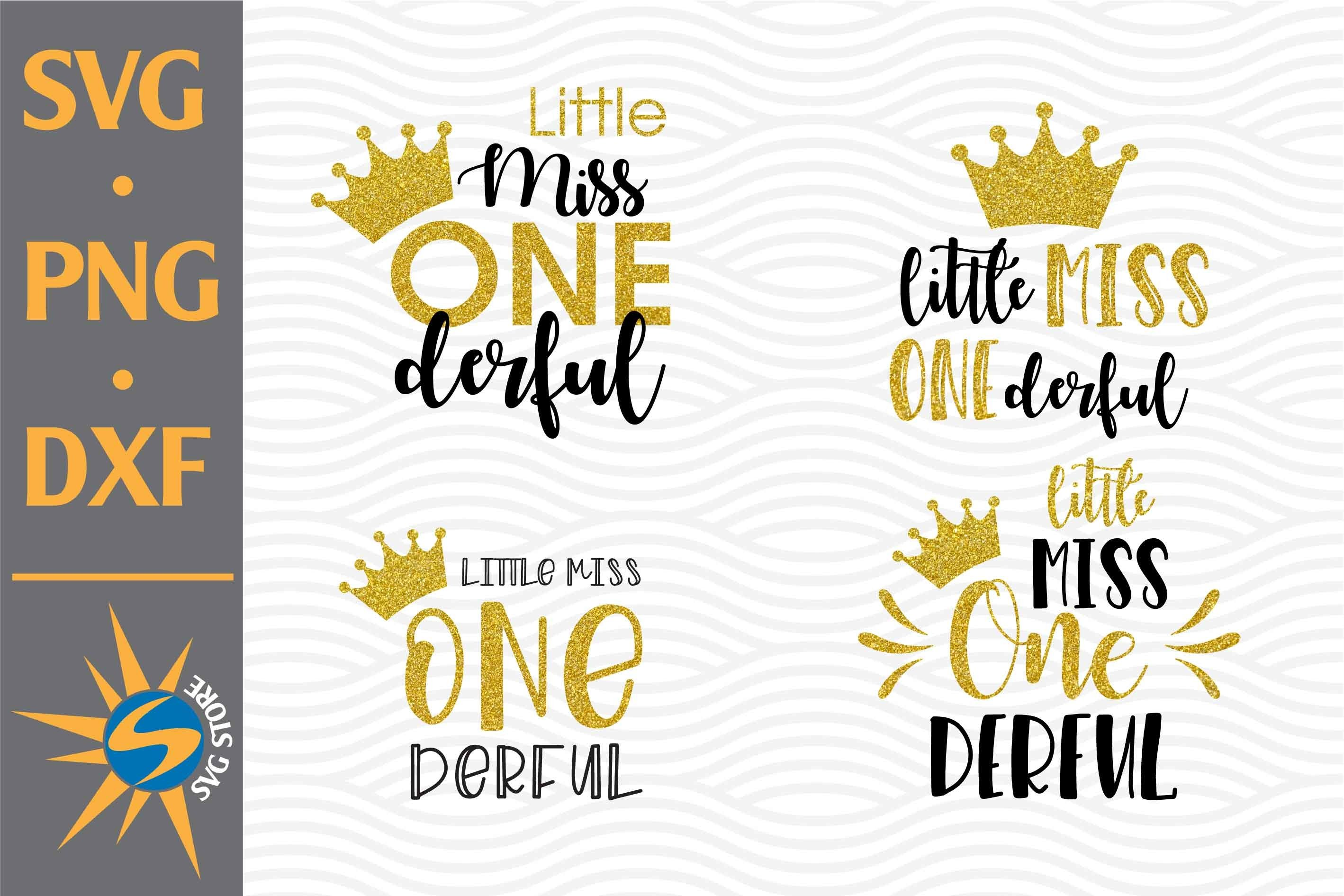 Little Miss Onederful Svg Png Dxf Digital Files Include 723565 Cut Files Design Bundles