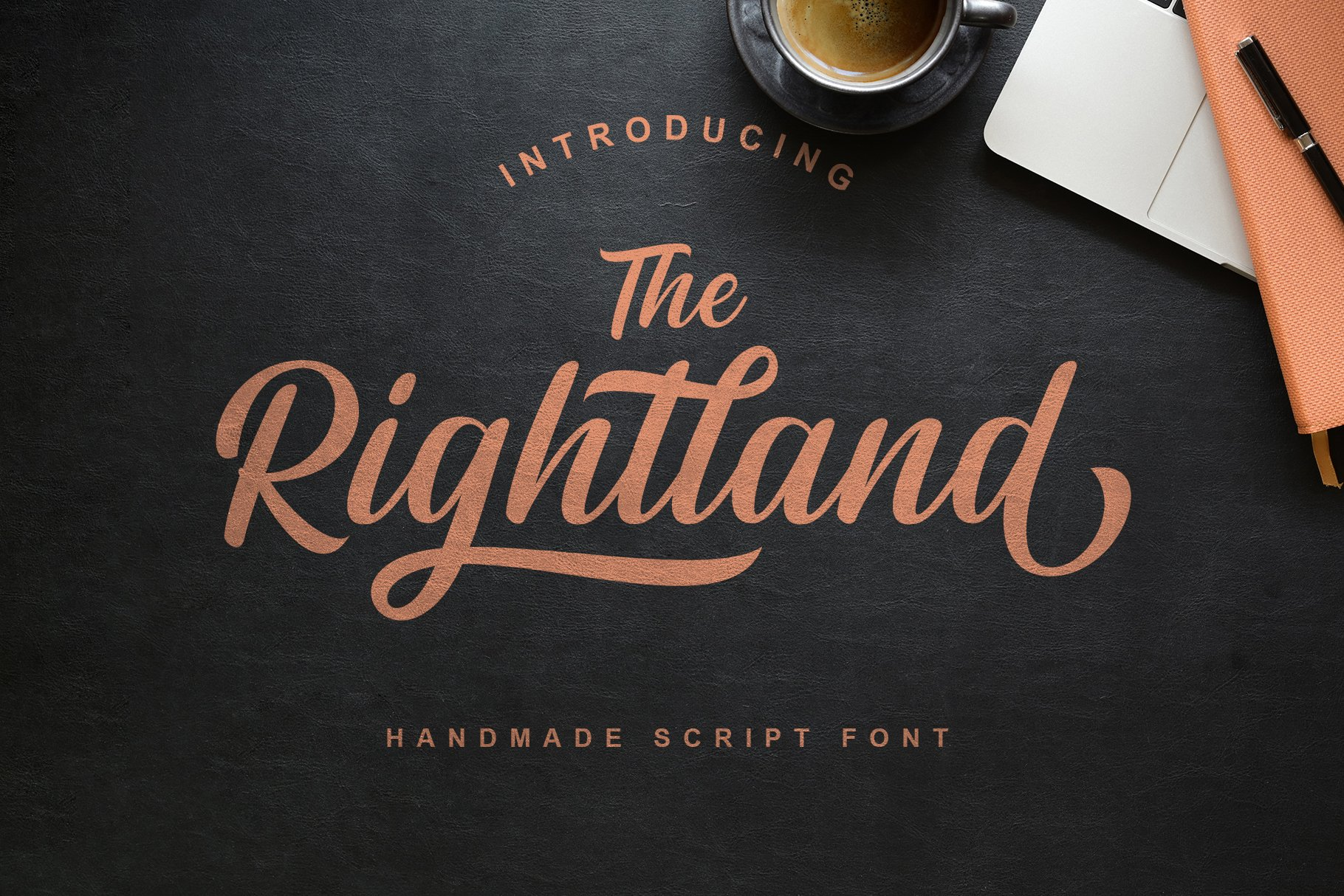 Rightland - Modern Bold Script example image 13