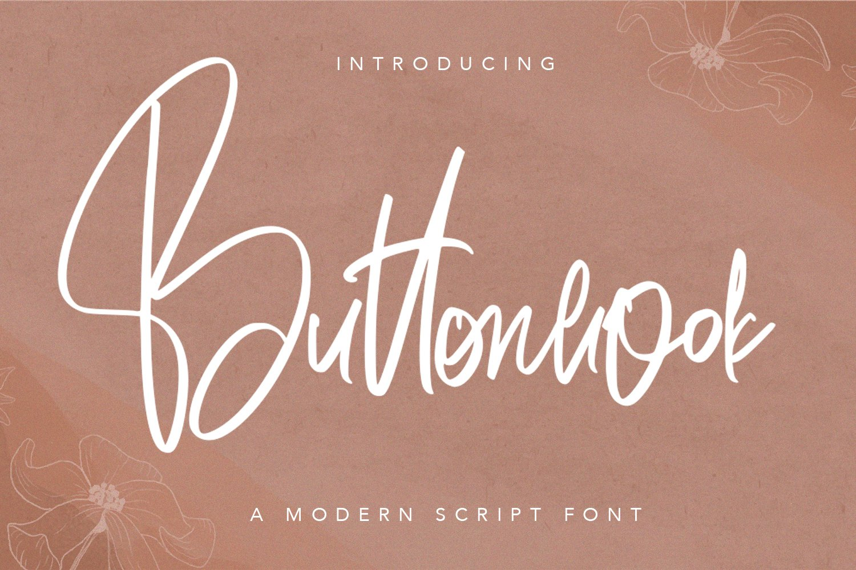 Buttonhook - Modern Script Font example image 1