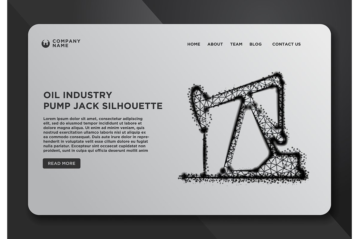 Web page design templates collection of Oil Pump Jack, Minin example image 1