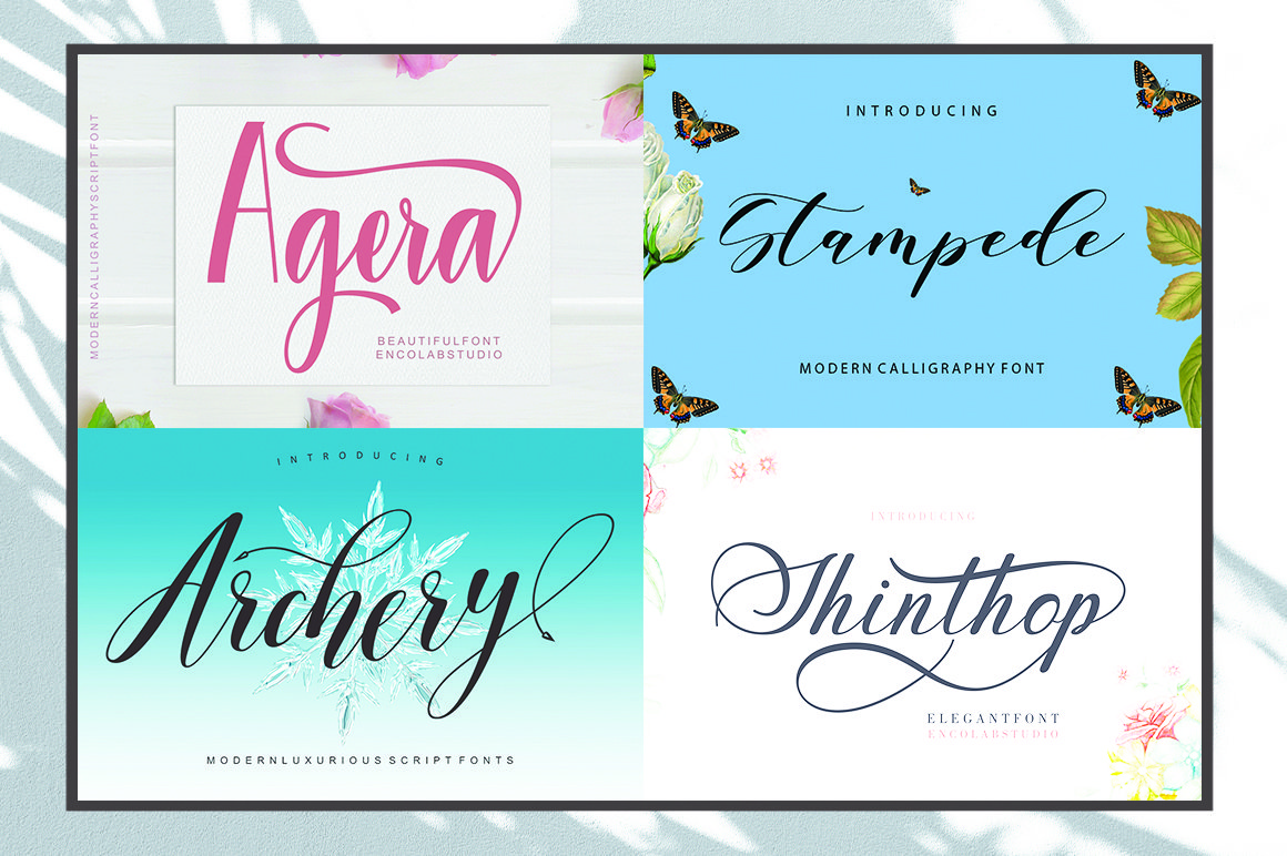 20 Fonts Bundle Only $5 example image 4