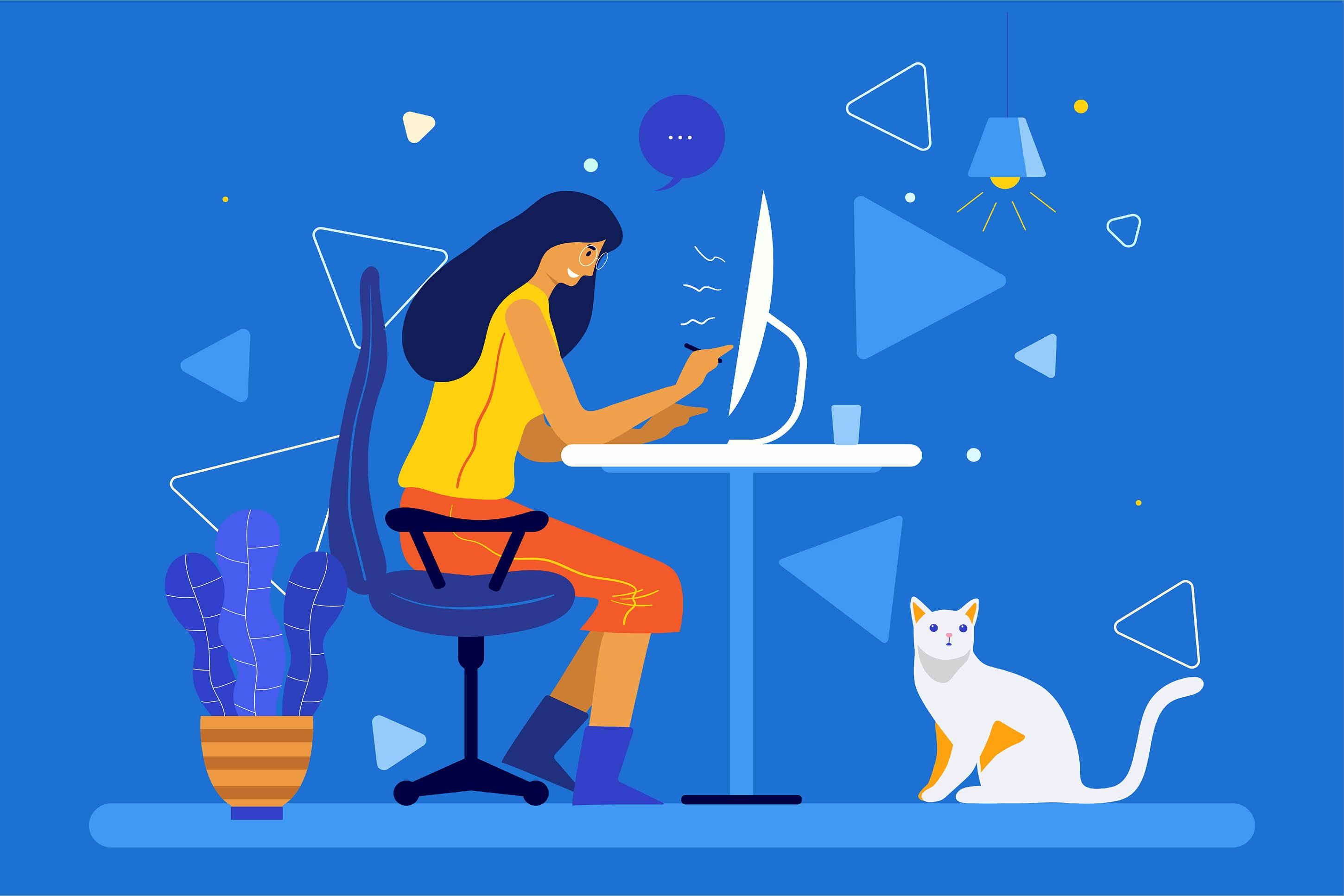 4 Bundle Illustration Style Work From Home example image 3