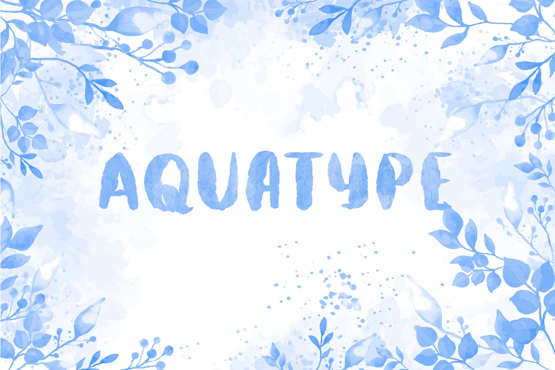 Aquatype. Display Watercolor font. example image 9