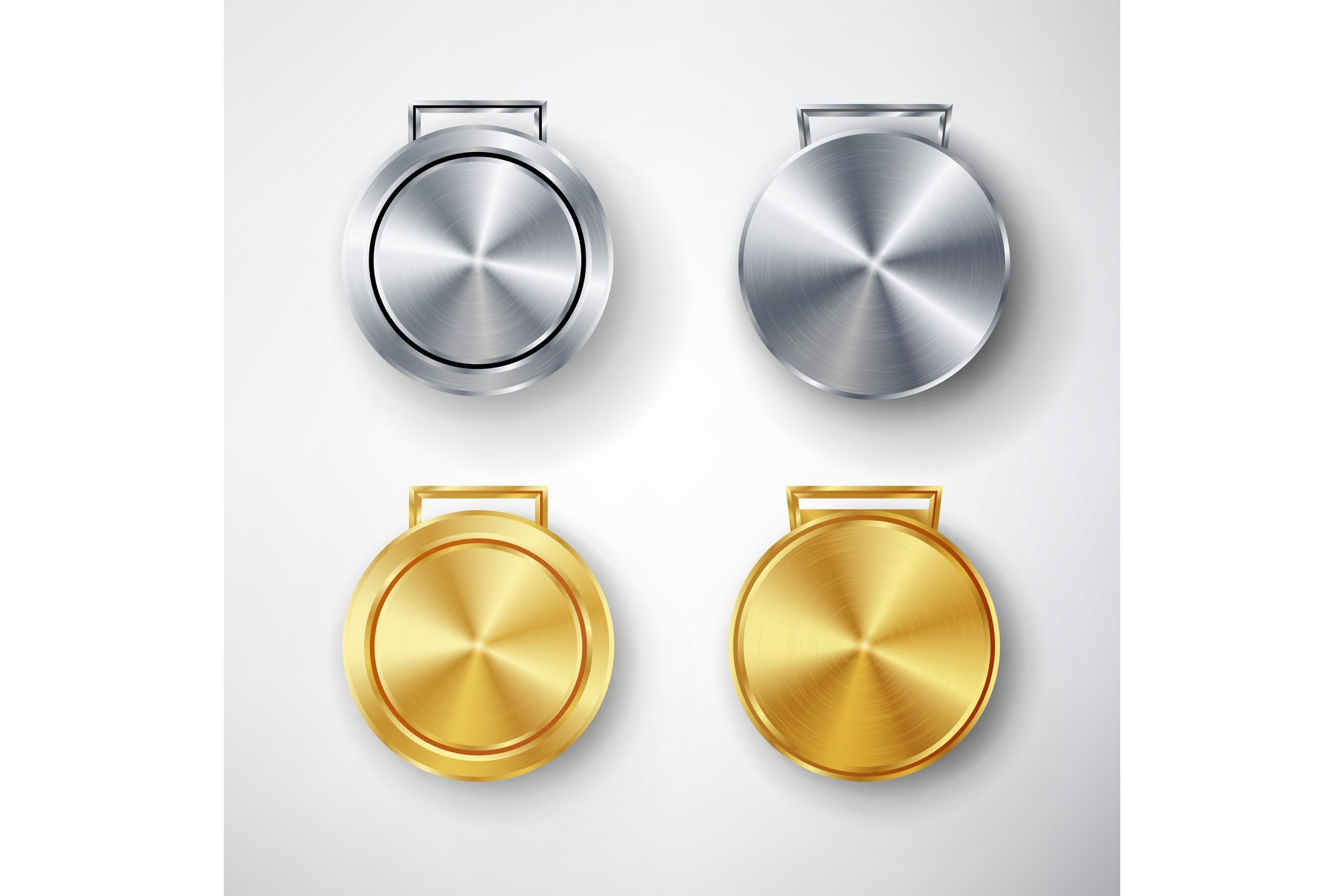 Competition Games Medal Set Template Vector example image 1