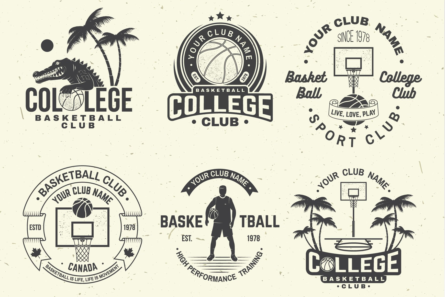 Basketball Club Badges and Labels example image 7