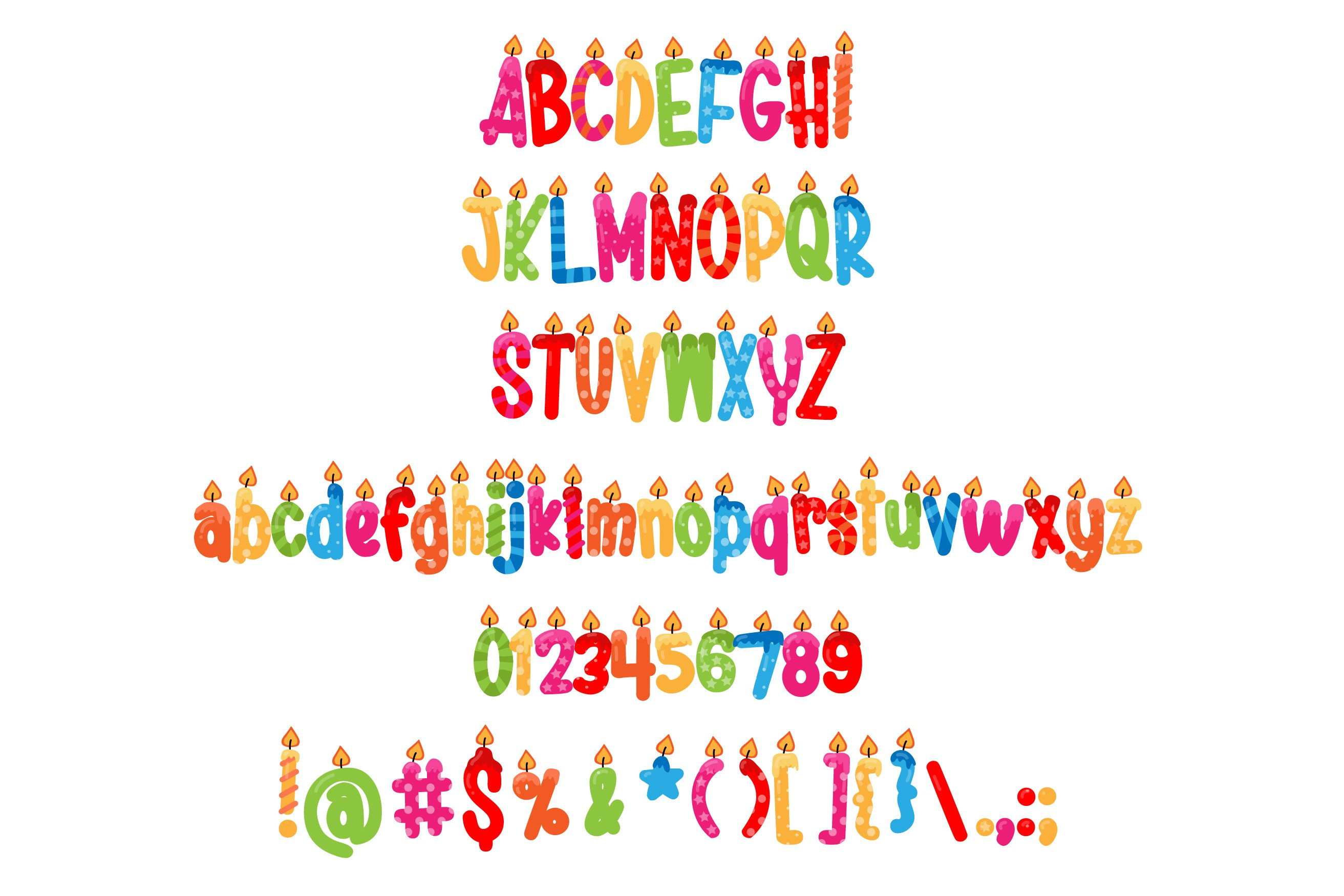 Birthday SVG Font Duo example image 5