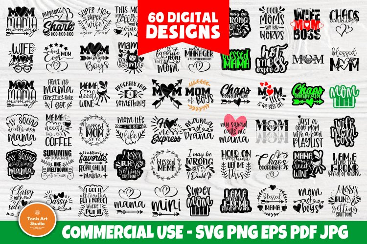 Download Funny Mom Svg Bundle Mom Quotes Svg Shirt Designs 557750 Cut Files Design Bundles
